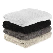 Sada 4 čierno-bielych bavlnených osušiek Rainbow Shadow, 70&a...