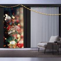 Vianočný záves Christmas Wonderful, 140 x 260 cm