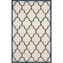 Krémovobiely vlnený koberec Everly Navy, 121×182 cm