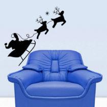 Samolepka na stenu Christmas Ride, 43x42 cm