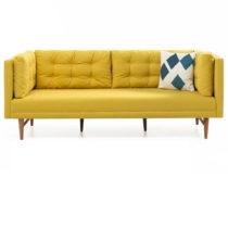 Žltá trojmiestna pohovka Balcab Home Eva