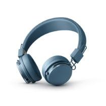 Modré bezdrôtové Bluetooth slúchadlá s mikrofó...