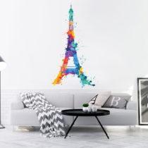 Nástenná samolepka Ambiance Wall Decal Eiffel Tower Design Watercolor, 70&#xA0...