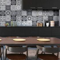 Sada 12 nástenných samolepiek Ambiance Wall Decals Tiles Gray Cement Rimini, 20&am...