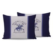 Sada bavlnených 2 vankúšov Polo Club Blue, 50 × 70 cm