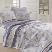 Modro-sivá ľahká prikrývka cez posteľ Capa Blue, 200&...