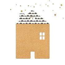 Dekoratívna samolepiaca nástenka Dekornik White House With Stars, 57x&am...