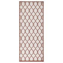 Červený vzorovaný obojstranný koberec Bougari Rimini, 80 x 350 ...
