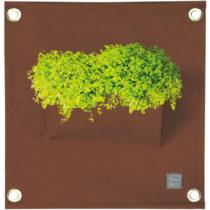 Hnedý závesný kvetináč The Green Pockets Amma, 45&...