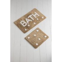 Sada 2 hnedých kúpeľnových predložiek Bath