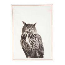 Kuchynská utierka Plain White Owl, 50 × 70 cm