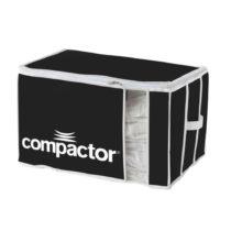 Čierny textilný úložný box Compactor Brand XXL Grande