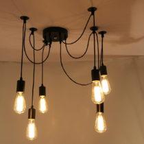 Čierne stropné svietidlo Deveron, 6žiaroviek