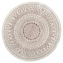 Červený vzorovaný obojstranný koberec Bougari Porto, Ø...