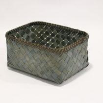 Zelený úložný kôšík z bambusu Compa...