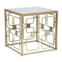 Konferenčný stolík v zlatej farbe Mauro Ferretti Coppia Cora, 57 x 57 cm
