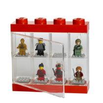 Červeno-biela zberateľská skrinka na 8 minifigúrok LEGO&#x...