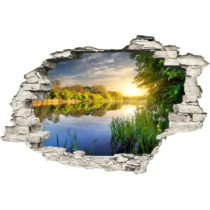 Samolepka na stenu Ambiance Jazero, 60×90 cm