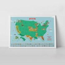 Zoškrabávacia mapa Luckies of London USA