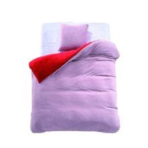 Červeno-ružové obojstranné obliečky z mikrovl&#x...