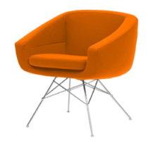 Oranžové kreslo Softline Aiko Valencia Orange