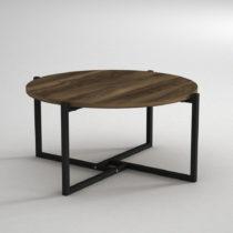 Konferenčný stolík s doskou v dekore orechového dreva Noce, &am...