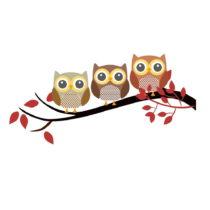 Vinylová nástenná samolepka Happy Owls