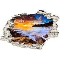 Samolepka na stenu Ambiance Západ Slnka, 60×90 cm