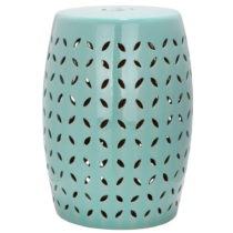 Tyrkysovomodrý keramický stolík vhodný do exteriéru Saf...