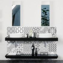 Sada 24 nástenných samolepiek Ambiance Wall Decals Modern Tiles, 20&...