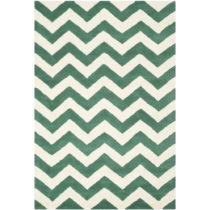 Vlnený koberec Safavieh Crosby, 91×152 cm, zelený