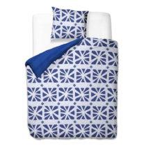 Modro-biele obliečky z mikrovlákna DecoKing Crack, 200×&#x...