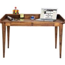 Pracovný stôl z e×otických drevín Kare Design Authentic...