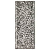 Čierno-biely vzorovaný obojstranný koberec Bougari Curacao, 80 x 150 cm