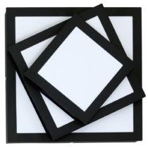 Čierne stropné svietidlo Glimte Fifi Black Quatro