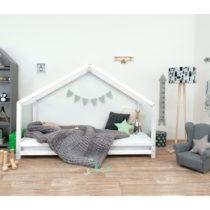Biela detská posteľ z lakovaného smrekového dreva Benlemi Sidy,...