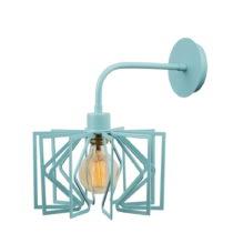 Bledomodrá nástenná lampa Radius Drop
