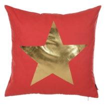 Červená obliečka na vankúš Apolena Star, 45 x 45 cm