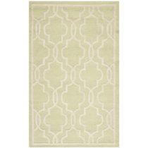 Svetlozelený vlnený koberec Safavieh Elle, 91×152 cm