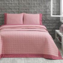 Prikrývka s vankúšom Jolly Pink, 240x250 cm, ružová