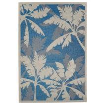 Modrý vysokoodolný koberec vhodný do exteriéru Floorita Palms Bl...