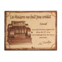 Plechová ceduľa Antic Line La Maison