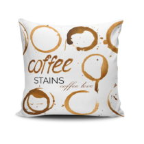 Vankúš Coffee Stains, 45×45 cm