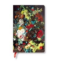Linkovaný zápisník s tvrdou väzbou Paperblanks Van Huysum, 9,5 x...