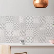 Sada 9 nástenných samolepiek Ambiance Cement Tiles Scandinavian Finnish, 10 &#...