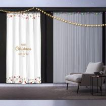 Vianočný záves White Christmas, 140 x 260 cm