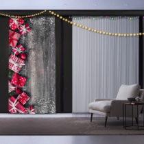 Vianočný záves Christmas Gift, 140 x 260 cm