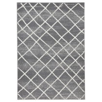 Tmavosivý koberec Zala Living Rhombe, 160×230cm