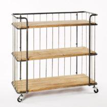 Servírovací trojposchodový stolík s doskami z jedľov&a...