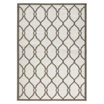 Hnedý vzorovaný obojstranný koberec Bougari Rimini, 200&#xD...